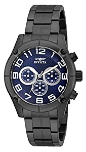 Invicta Mens Specialty 45mm Stainless Steel Gunmetal Blue dial VD54 Quartz Watch