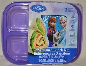 Frozen 3 Sectioned Lunch Kit with Water Jug - 1