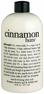 Philosophy Cinnamon Buns Shampoo/Shower Gel/Bubble Bath, 16 Ounces