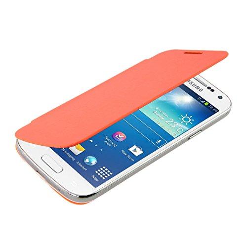 kwmobile フリップスタイル ケース カバー Samsung Galaxy S4 Mini用 ふた付き保護ケース バッグ オレンジ