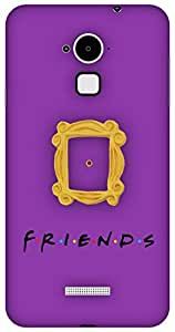 The Racoon Lean Peek Hole Purple hard plastic printed back case / cover for Coolpad Note 3