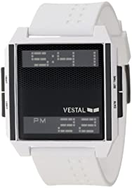 Vestal Men's DIG018 Digichord Ultra Thin White Black Negative Watch