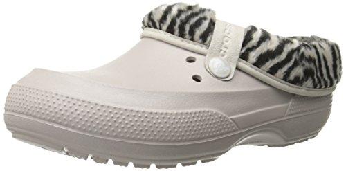 crocs Unisex Blitzen II Animal Print Clog Mule, Platinum/Black, 7 B(M) Women/5 D(M) Men US (Platinum Heels For Women compare prices)