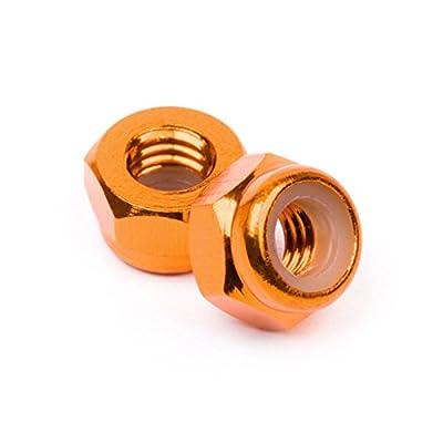HPI Z868 Aluminum Locknut M4 Orange (10)