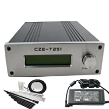 CZH 25w Fm Transmitter Broadcast 0-25w Power Adjustable 87-108mhz 1/4 Wave Antenna Nj Kit