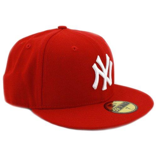 New Era Cap Co MLB Basic NY Yankees New Era Cap Scan White 7 3/4