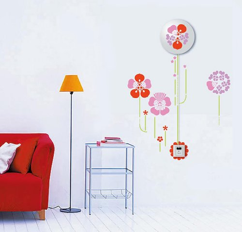 Dream Wall Decal, Pink Flowers