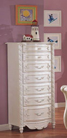 Lingerie Storage Chest with Bun Legs White Finish
