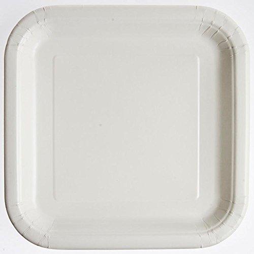 "White 9"" Square Plates - 1"
