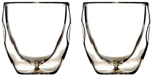 Ozeri Deutschland DW020A-2 Moderna Espressoglas, doppelwandiges Thermogläser Set, 2 Gläser