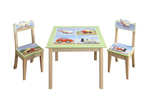 Teamson Transportation Table and 2 Chair Set