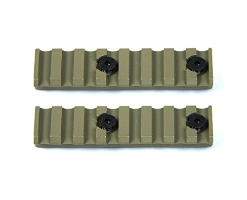 FireTacSports 2X 8-Slots 3.13-Inch KeyMod 1913 Picatinny Rail Section -FDE Flat dark earth (Dark Earth Quad Rail compare prices)