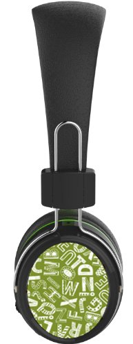 Neojdx Genoa Wireless Bluetooth Headphone For Music Streaming And Hands-Free Calling With Sd-Card Mp3/ Fm Radio/ Built-In Mic/ 14 Hour Battery / Noise Isolation / Noise Cancellation And Hard Travel Case - Black & Green