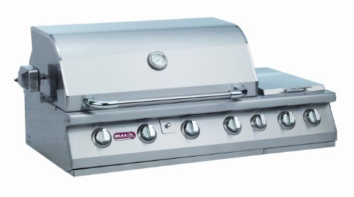 Big Save! Bull Outdoor Products 18249 47-Inch 7 Burner Premium Stainless Steel Gas Barbecue with Bui...