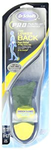 Dr Scholl's Back Pain Relief Orthotics, Men's Sizes 8-13 (Pack of 2)