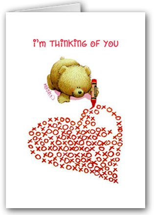 Cute Teddy Bear XOXO Heart Valentine's Day card set - 12 carsd/13 envelopes
