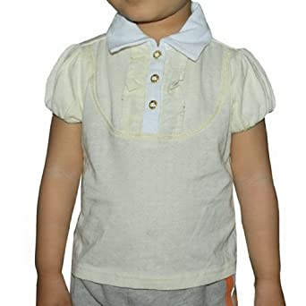 Very Cute Infant Girls APPLE BOTTOMS Cream Colored T-Shirt Top Size 18 White