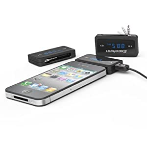 Excelvan FM TRANSMITTER for iPhone 5 4S 4 3GS 3G iPod TOUCH MP3, Hands-Free