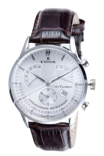 Edox Men's 01505 3 AIN Chronograph Retrograde Les Vauberts Watch