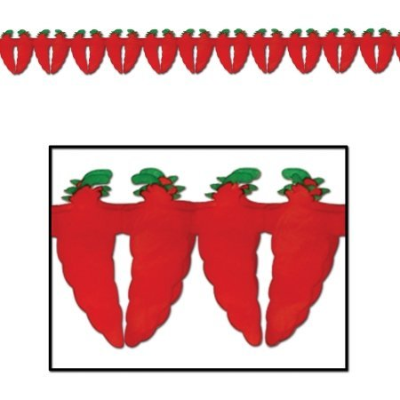 Beistle Home Party Decorations Chili Pepper Garland