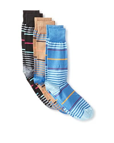Jared Lang Men's Striped Socks - 3 Pack, Multi, One Size