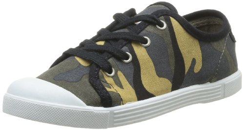 Little Marcel Sanlas Print J, Sneaker Unisex, Nero (Army Noir), 13.5 UK Child
