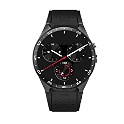 Bluetooth Smart Watch KW88 1.39-inch SmartWatch with Heart Rate Monitor Camera GPS for Android Phones Android 5.1 and iPhone