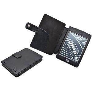 TeckNet@ Amazon Kindle Paperwhite / kindle Touch Étui/housse/case/cover Amazon pour Kindle Paperwhite & Kindle Touch + 2 x Film de protection écran - Noir