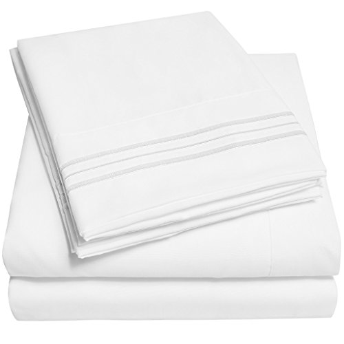 1500 Supreme Collection Bed Sheets - PREMIUM QUALITY BED SHEET SET & LOWEST PRICE, SINCE 2012 - Deep Pocket Wrinkle Free Hypoallergenic Bedding - Over 40+ Colors & Prints- 4 Piece, Queen, White (Egyptian Cotton Sheet Set compare prices)
