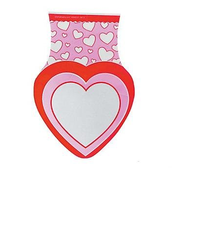 1DZ Heart Shaped Cellophane Bags ~ Great for Party Favors ~ Candy Goodies ~ Birthday Christmas Valentine's Day ~ Pink Red with Hearts ~ New in Package