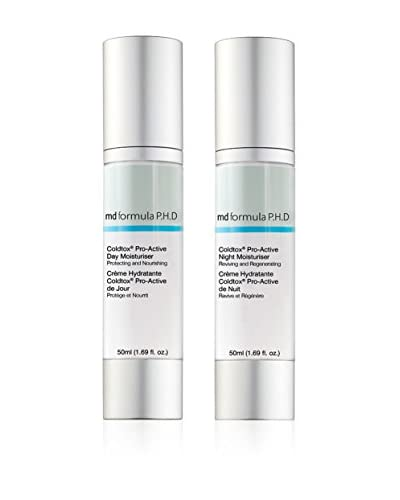 MD FORMULA Beauty-Tratamiento Facial 2 Piezas Coldtox Pro-Active Day Moisturizer, Coldtox Pro-Active Night Moisturizer
