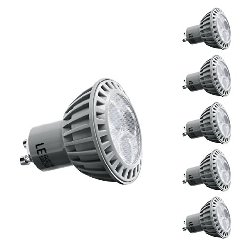 Le 5W Gu10 Led Bulbs, 50W Equivalent, Perfect Standard Size, Daylight White, Recessed Lighting, Track Lighting, Pack Of 5 Units