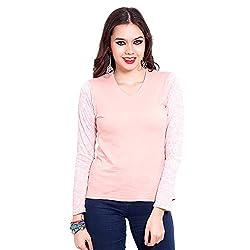 TUNTUK Women's Combi Top Pink Viscose Top