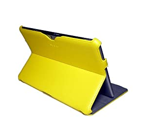 Untra Slim-Fit Folio Cover Case With Multi-Angle Stand for 7.0 Samsung Galaxy Tab 2 P3100 P3110 - (Yellow)