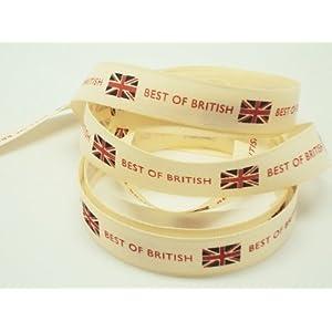 4M x15mm Best of British ribbon (Natural rustic taffeta style material)