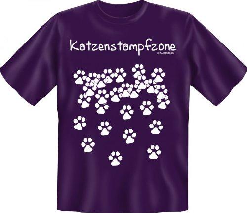 Rahmenlos fun-t-shirt: gatti Stamp fzone - idea regalo - 100% cotone - alta qualità, colore: Multicolore;Taglia: XXL