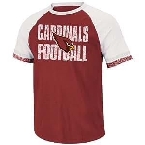 NFL Arizona Cardinals Men's Zone Blitz IV Short Sleeve Tee, Garnet/Gray/White, Small