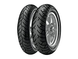 Metzeler Feelfree Tire - Rear - 140/70-16 , Position: Rear, Tire Size: 140/70-16, Tire Type: Scooter/Moped, Rim Size: 16, Load Rating: 65, Speed Rating: P, Tire Construction: Bias 1660500