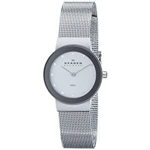 Skagen Women's 358SSSD Freja Quartz 2 Hand Stainless Steel Silver Watch