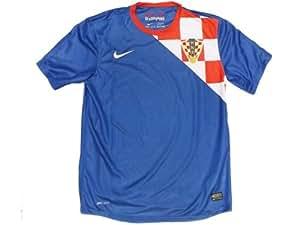 Nike Men Fußball Trikot Kroation Away / 450498-471 Farbe: Bright Red/True Blue