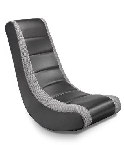 Ace Bayou Abc Life Style Furniture Video Rocker, Adult, Black/Silver Stripe