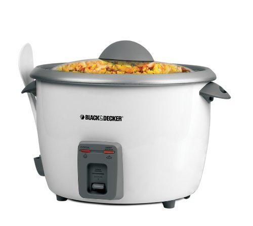 Black & Decker 28-Cup Rice Cooker, White (Black And Decor Rice Cooker compare prices)
