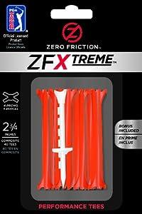 Zero Friction Xtreme 4-Prong Golf Tees (2-3/4 Inch, Citrus Orange, Pack of 40)