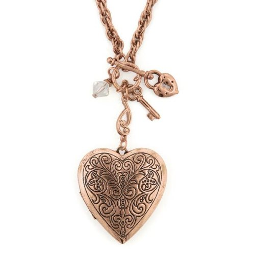 14K Rose Gold Heart Locket With Flower Design | The Gold Locket