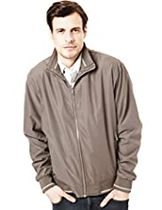 Big & Tall Blue Harbour Funnel Neck Soft Bomber Jacket with Stormwear&#8482;
