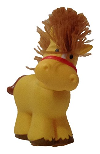 Little People Touch N Feel Horse (2005) - Replacement Figure Accessory - Classic Fisher Price Collectible Figures - Loose Out Of Package & Print (OOP) - Zoo Circus Ark Pet Castle - 1