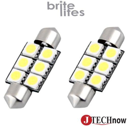 """Jtech 2 X 36Mm(1.50"""") 6X5050 Canbus Error Free Smd Dc 12V White Festoon Led Bulb 3021 De3021 6411 6413 6418 De3423 De3425"""