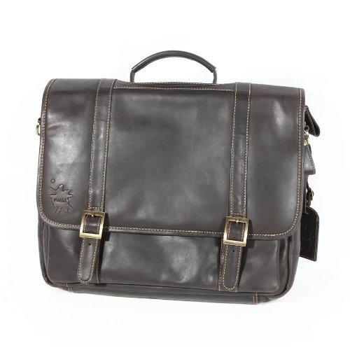 Fine Leather Laptop Messenger Shoulder Bag Briefcase 0014