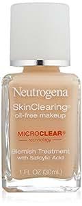 Neutrogena SkinClearing Liquid Makeup, Classic Ivory 10, 1 Ounce