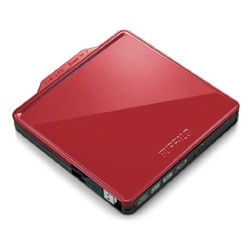 BUFFALO BDXL対応 USB2.0用ポータブルBlu-rayドライブ Wケーブル収納タイプ レッド BRXL-PC6VU2-RDC